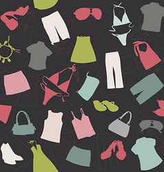 seamless background elements of clothing pattern vector image vector image