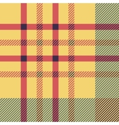 Set of seamless british tartan pattern Plaid vector image