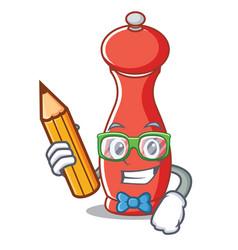 Student pepper mill character cartoon vector