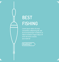 the best fishing in linear vector image