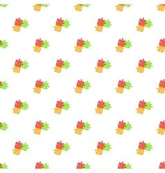 Three puzzle pattern cartoon style vector