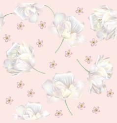 tulip pattern pink vector image vector image