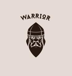 Viking face vector