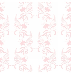 Vintage floral pattern in pink color vector