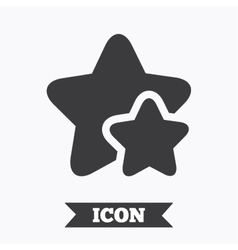 Star icon favorite sign vector