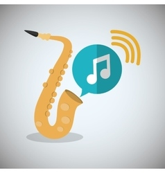 Saxophone music sound instrument vector