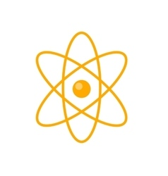 Atom in flat style design vector