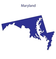 United States Maryland vector image