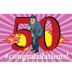 Congratulations 50 anniversary event celebration vector