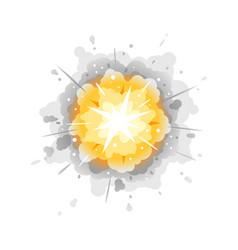 Radial explosion cartoon vector