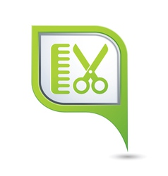 hairdressing salon icon on green pointer vector image