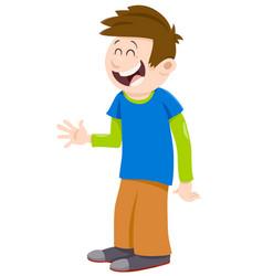 Kid boy cartoon character vector