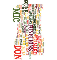 Microphone technique text background word cloud vector