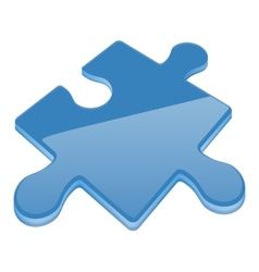 Jigsaw puzzle piece vector