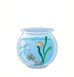 Fish in the aquarium vector