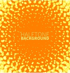 Abstract orange halftone background with yellow vector