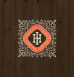 Monogram logo vector