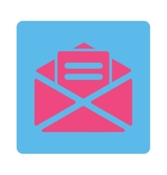 Open mail icon vector