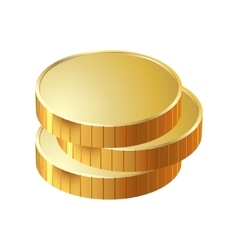Money coin pile of gold vector