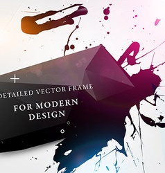Modern paint splash background vector
