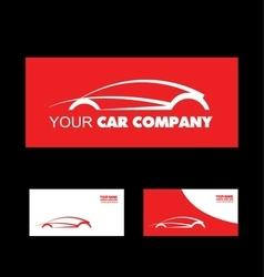 Red car logo design vector