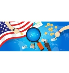 America usa united states economy financial vector