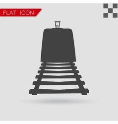 Train icon flat style vector