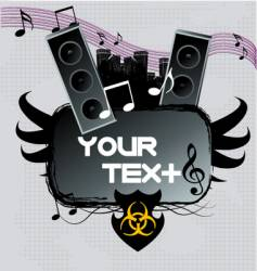 a dark urban music poster vector image vector image
