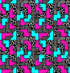 Abstract bright colored geometric pattern in style vector