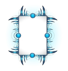 Abstract shape with frame vector image
