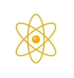 Atom in flat style design vector