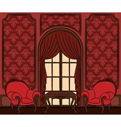 Beautiful vintage interior vector image vector image