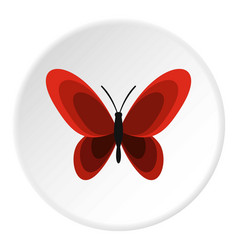 Butterfly icon circle vector