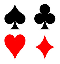 Card suits symbol of playing card suit vector