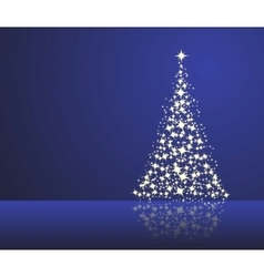christmas blue background vector image