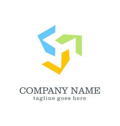circle technology colored company logo vector image vector image