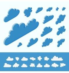 Cloud shapes collection 3d vector image vector image