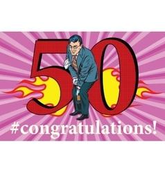 Congratulations 50 anniversary event celebration vector image vector image