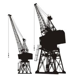 Dockyard cargo cranes vector image vector image
