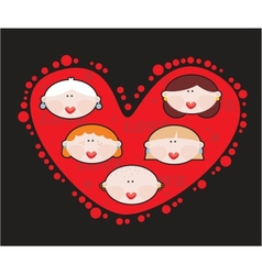 Female heart vector image vector image