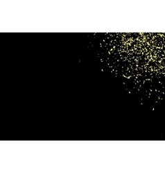 gold confetti on a black vector image vector image