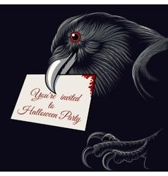 Halloween Raven vector image