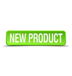 new product green 3d realistic square isolated vector image vector image