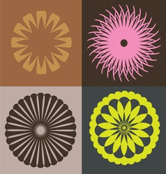 optical collection from round elements vector image vector image