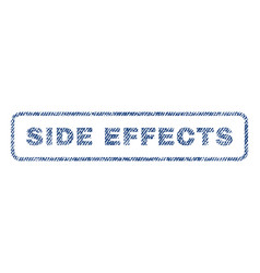 Side effects textile stamp vector