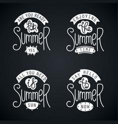 Summer labels and design elements vector