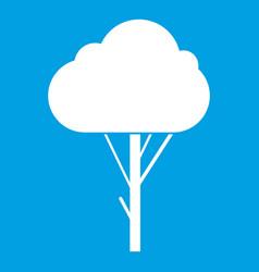 tree icon white vector image