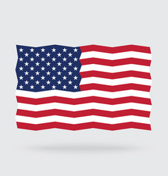 Usa flag zigzag isolated on background vector