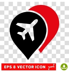 Airport Map Markers Eps Icon vector image