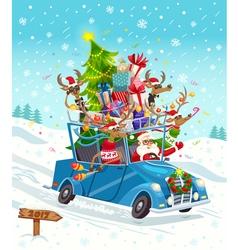 Cartoon Christmas Gift Card vector image